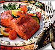 grilled gourmet salmon from Alaska