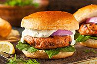 Red King Salmon Burger