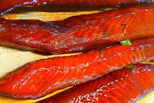 Smoked Teriyaki Salmon Strips