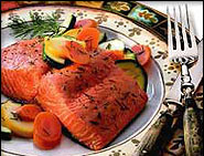 Silver Coho Salmon on plate