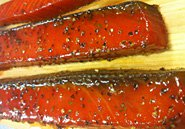 Honey Smoked Salmon Belly Strips