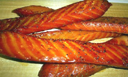 Honey Smoked Salmon Strips!!
