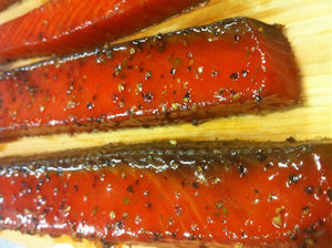 Honey Smoked Salmon Peppered – Euclid Fish Company |Honey Smoked Salmon