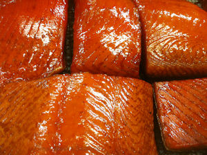 Smoked�Kalgin Island King Salmon Fillets