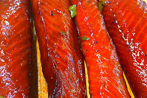Teriyaki King Salmon Strips