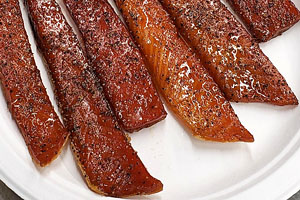 Honey Smoked Coho Salmon Bellies