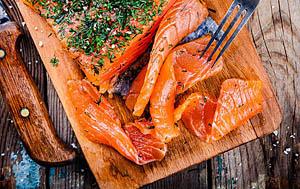 Sliced Smoked Coho Salmon