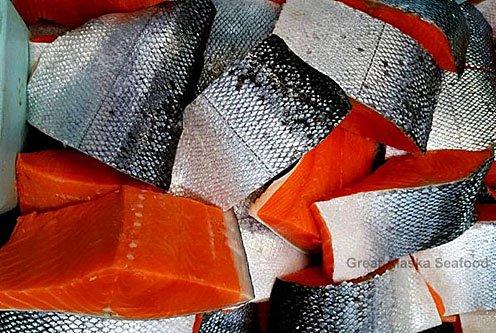 Troll-Caught Red King Salmon