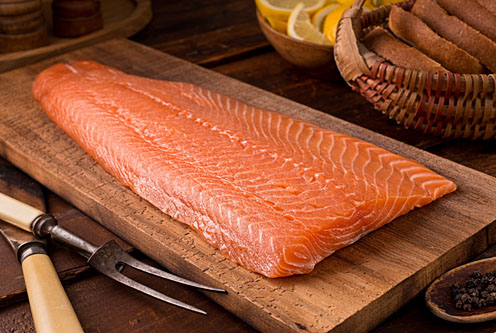 Planked Silver Salmon Wholeside Fillets