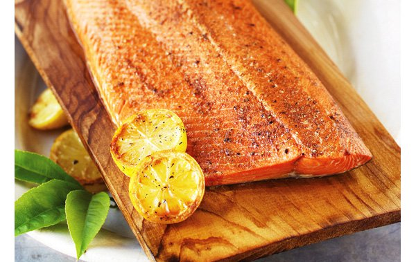 Cedar Plank Salmon King Sockeye Silver Salmon Overnight To