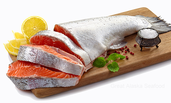 how to cut a whole salmon into steaks